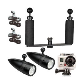 BigBlue Underwater LED Light System Kit for GoPro Action Video Camera