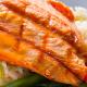 Grilled Salmon Filet Over Basmati Rice