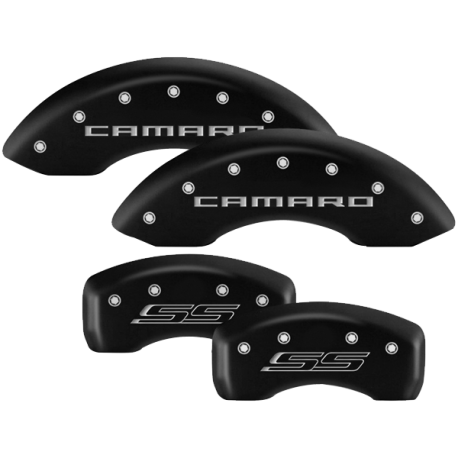 MGP® - Matte Black Caliper Covers with Engravings