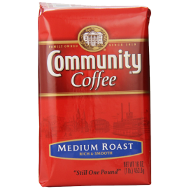 Community Coffee Premium Ground Coffee Medium Roast 16 Ounce (Pack of 10)
