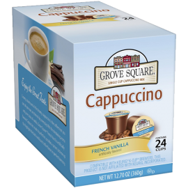 Grove Square Cappuccino French Vanilla 24-Count Single Serve Cup for Keurig K-Cup Brewers