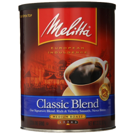 Melitta Coffee Classic Blend Ground Medium Roast 22-Ounce