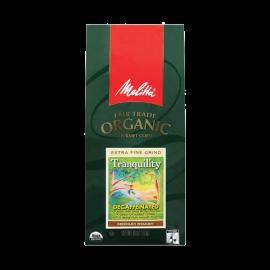 Melitta Fair Trade Organic Coffee Tranquility Decaffeinated Ground Medium Roast 10 ounce