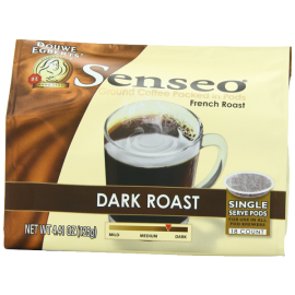 Senseo Coffee Pods Dark Roast 18 Count (Pack of 6) 26.46 Ounce