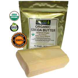 Raw Cocoa Butter - CERTIFIED ORGANIC Pure & Natural