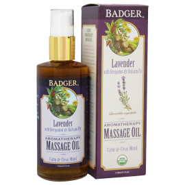 Badger Lavender Aromatherapy Massage Oil