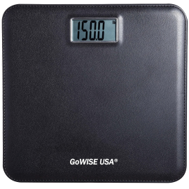 GoWISE USA GW22035 Electronic Personal Digital Scale w- Step-On Techonology & Wide Platform