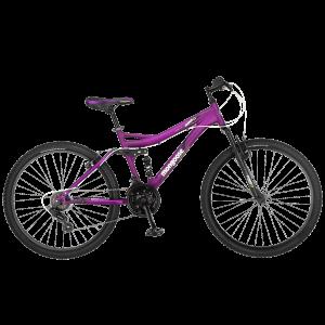 Mongoose Women's Status 2.2 Full Suspension Bicycle (26-Inch Wheels), Matte Purple, 16-Inch
