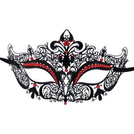 Burlesque-Boutique Women's Laser Cut Metal Venetian Crown Mask