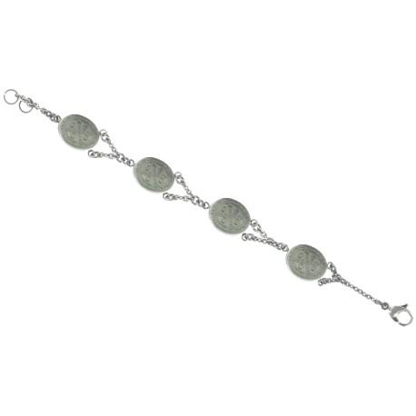 Catholic - Stainless Steel San Benito - Saint Benedict Bracelet 19 CM Length