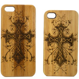 Celtic Cross iPhone 6 Case Eco-Friendly Bamboo Wood Cover