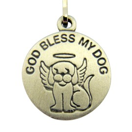 God Bless My Dog - Saint Francis Charm Tag - with Prayer Card from Fantasy Farm