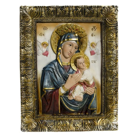 12- Godmother Mary with Jesus Christ Baby Religious Icon