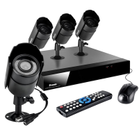 8 Channel DVR & 4 65ft Day Night Sony CCD
