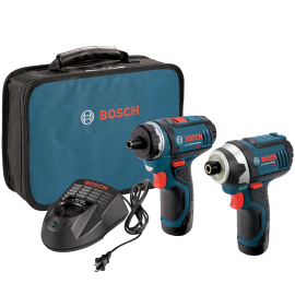 2-Tool Combo Kit (Drill Driver and Impact Driver) with 2 Batteries Charger and Case