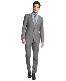 Huge-Genius Extra Trim Fit Plaid Suit