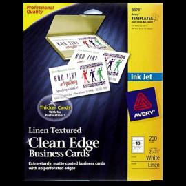 Avery Clean Edge Inkjet Business Card
