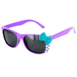 Pretty Kitty Kids Polarized Wayfarer Sunglasses 100%UV w-Glare Protection