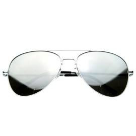 Reflective FULL MIRROR Mirrored Metal Aviator Sunglasses