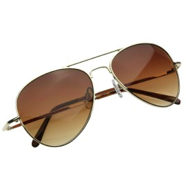 Small Classic Tear Drop Metal Aviator Sunglasses