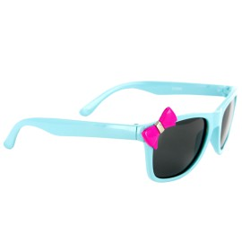 Bow Peepers Polarized Lens Protect Kids Eyes. Girl's Sunglasses Wayfarer Frames