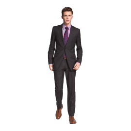 Jam-Sharp Trim Fit Grey Virgin Wool Suit