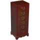 Handmade Leather Accent-Hall Table with Six Drawers