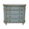 Hand-painted Distressed Pastel Blue Finish 4-drawer Accent Chest the Chests Have 4 Drawers for Storage