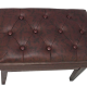 Cameron & Sons CS-12 WAHP-LE Leather Adjustable Artist Piano Bench Brown Walnut