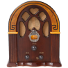 Crosley CR31-WA Companion Retro AM-FM Radio with 1 Full-Range Speaker (Walnut & Burl)