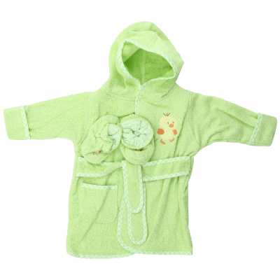 Cotton-Hooded-Terry-Bathrobe-with-Booties