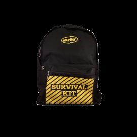 Black Backpack w_-Survival Kit- Imprint