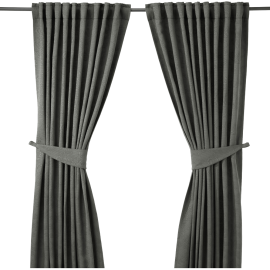 Curtains with tie-backs