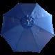 9' Outdoor Market Umbrella in Navy Blue