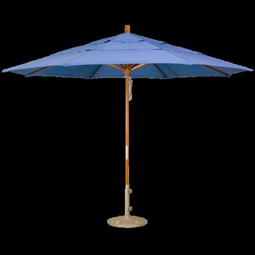 11' Wood Market Umbrella