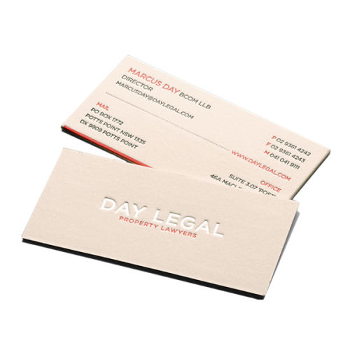 Day Legal business card design