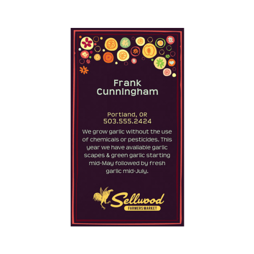 Graphic Farmer's Market Business Card Template