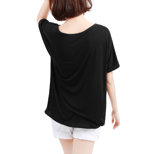 Neck Skull Cut Out Top