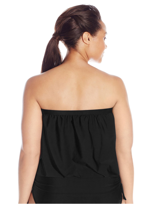 Women's Plus-Size Finesse Solid Banded Bandini