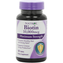 Natrol Biotin 10000 mcg Maximum Strength Tablets 100-Count 1