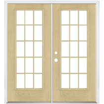 Benchmark by Therma-Tru 70-58-in Low-E 15-Lite Grilles Between The Glass Fiberglass French Inswing Patio Door_1