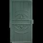 Gatehouse 36-in x 81-in Alexandria Black Steel Security Door_1