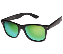 Flat Matte Reflective Revo Color Lens Large Wayfarers Style Sunglasses - UV400_01