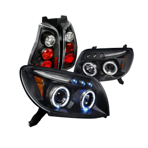 Toyota 4Runner Black Halo Projector Headlights, Altezza Tail Lights _1