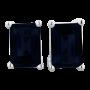 3ct Emerald Cut Midnight Sapphire Earrings In Sterling Silver_2