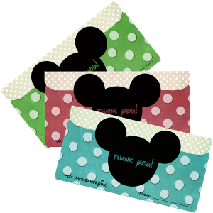 Disney Mousekeeping Printable Envelope 2