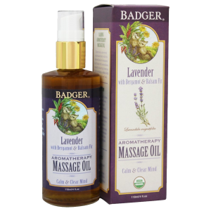 Badger Lavender Aromatherapy Massage Oil 1