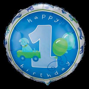 Boy's Little 1 Birthday Foil Balloon 1 copy