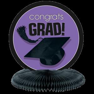 Congrats Grad Purple GraduationCenterpiece 1 copy