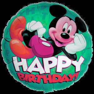 Mickey Happy Birthday 18'' Foil Balloon 2 copy